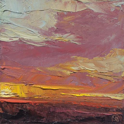 1 Fallen Sun oil on canvas 6x6