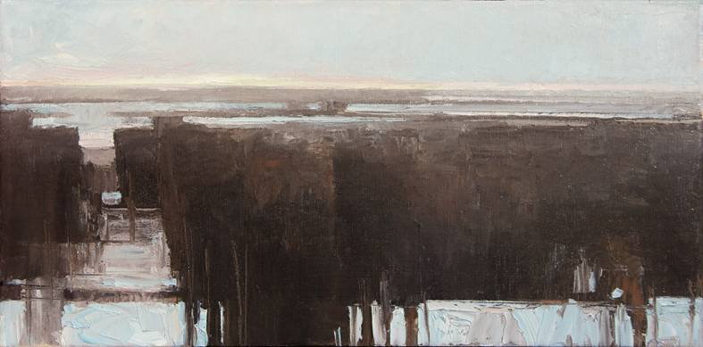 11 Mid Winter oil on canvas 12x24